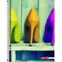 Caderno Flex 10 Matérias 200 Folhas Mais+ Feminino Sapatos