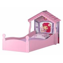 Cama Mini Casinha Infantil Moranguinho Para Menina