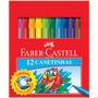 Canetinha Hidrográfica Prestocolor Faber Castell 12 Cores