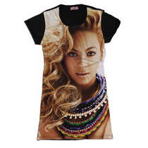 Vestido Feminino Camisetao Swag Face Rosto Beyonce