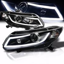 Farol Honda Civic 2012 2013 2014 2015 2016 Barra Led + Xenon