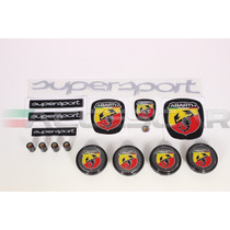 Kit Nº2 Adesivos Abarth Supersport P/ Fiat Bravo