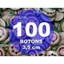 Boton Botton Personalizado 3,5 Cm 100 Unidades Button Botom