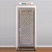 Adesivo Decorativo Para Porta Textura Árabe1 Mod Pex06