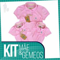 Kit 3 Peças Mãe E 2 Filhos Original Sheepfyeld, Varias Cores