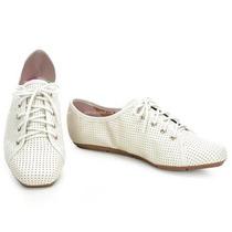 Sapatenis Oxford Moleca Branco Confortável Lindo Moderno