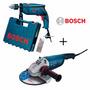 Esmerilhadeira Gws 22-180 + Furadeira Gsb 13 Re Bosch - 220v