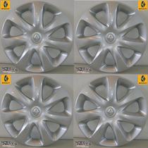 Jogo De Calota (4) Clio Aro 13 Original Renault Moderna Nova