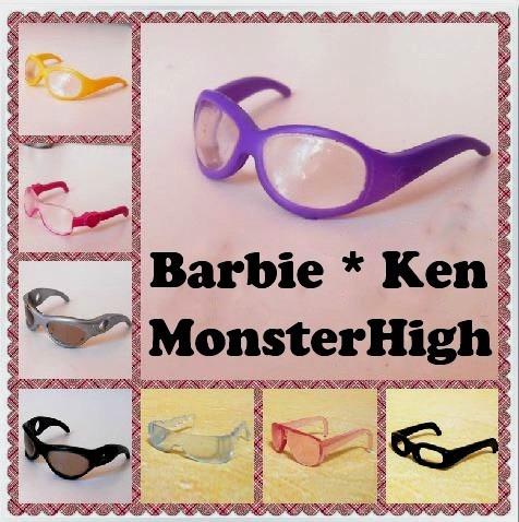 d9731a4e9 Óculos Fashion P/ Boneca Barbie * Ken * Monster High * Susi (Roupas ...