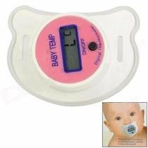 Termômetro Digital Tipo Chupeta Infantil Pronta Entrega Rosa