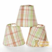 Jogo Cúpulas Avulsas Tecido Lustre Bebê Verde (3 Unidades)