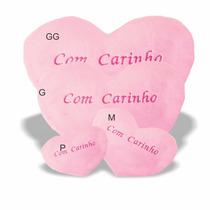 Pelúcia Almofada Coração - Com Carinho - M - 35x45 Cm