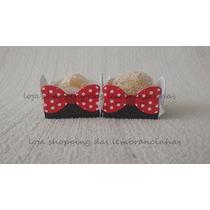 Promoção!! 100 Forminhas Lacinhos Minnie Vermelha E Rosa