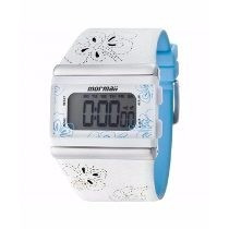 Relógio Mormaii Feminino Branco\azul Trend Modelo Yp9443/8a