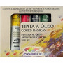 Estojo Kit Tinta Óleo Corfix Com 06 Cores - 20ml
