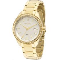 Relógio Technos 2115kqy/4k 2115kqy 4k Dourado Ouro Swarovski