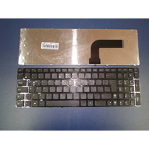 Teclado Notebook Asus X55c Mp-10a76pa-9201 Com Frame