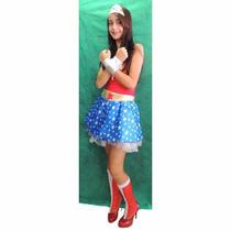 Fantasia Mulher Maravilha Vestido - Adulto - Point Da Dança
