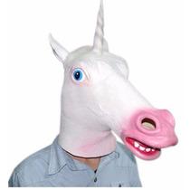 Máscara Látex Unicórnio Realista Halloween Animais