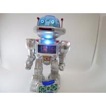 Robo Fala,anda,dança,move A Cabeça Lança Discos C/ Controle