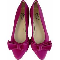 Sapatilha Sandália Sapato Feminino Pink C Laço Luxo Linda!