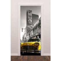 Adesivo Porta Nova York Time Square Carro Antigo Retrô