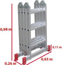 Escada Articulada Aluminio 13 Em 1 (4x3) 12 Degraus Botafogo