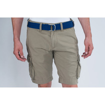 Bermuda Cargo Khaki Polo Collection - Com Cinto