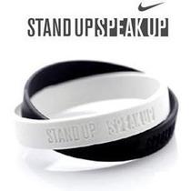 Pulseira Nike Stand Up Speak Up Anti Racismo Pronta Entrega