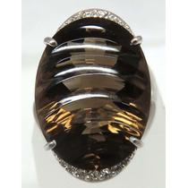 Pocao2005- Anel De Ouro Branco 18k750 Diamantes Grife Vivara