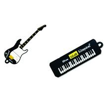 Kit Pen Drive Kingston Datatraveler 8gb Teclado E Guitarra