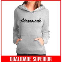 Moleton Aeropostale Feminino Casaco Canguru Blusa De Frio