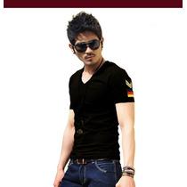 Camiseta Masculina Moderna Malha Ótima Qualidade