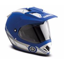 Capacete Yamaha On/off Road Azul Brilhante 58