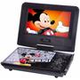 Dvd Portátil Infantil Disney Mickey 7 Pol. Tv Controle Jogos