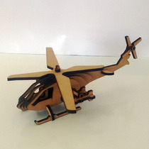 Quebra Cabeça 3d - Coleção Aviões - Helicóptero Esquilo