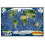 Mapa Mundial Satélite Relevo Grande Hd Papel Colar Na Parede
