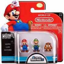 Boneco Boneco Micro Land Super Mario Luigi+mario+goomba Dtc