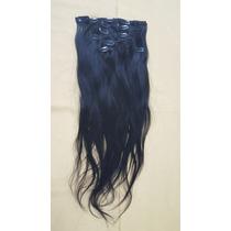 Mega Hair Cabelo 100% Humano 110g, Com Tic Tac 7 Peças Preto