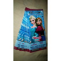 50 Convite Ingresso Frozen Galinha Peppa Patati Aniversário