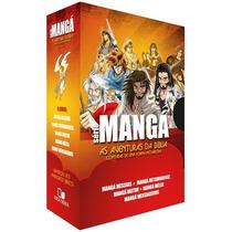 Box Série Mangá - 5 Livros (histórias Quadrinhos Bíblicos)