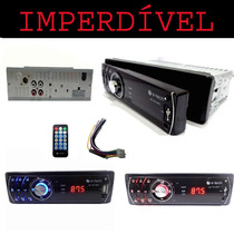 Radio Mp3 E-etech Am/fm/usb/sd/aux Frente Removivel P/ Carro