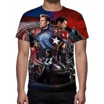 Camisa, Camiseta Filme Capitão América Guerra Civil Mod 06