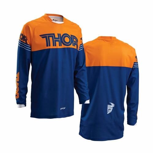 Camisa Thor Phase 16 Infantil Hyperion - Azul / laran - Tam. M
