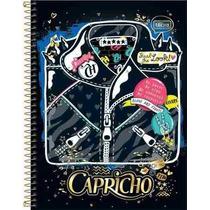 Caderno Capa Dura Tilibra Capricho 240 Fls 12 Matérias 2016
