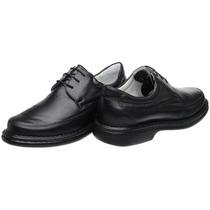 Sapato Antistress Amarrar Couro Legítimo Grátis Cinto Couro