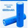 Kit 10 Bateria Recarregável 18650 6800mah 3.7v Tática Led