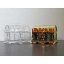 Mini Baú De Acrilico Para Lembrancinha - Kit 36 Unidades