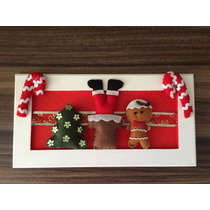 Quadro Natalino Pendurar Na Porta -guirlanda Natal - Noel