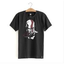 Camiseta Oficial God Of War - Kratos Face Playstation